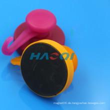 Verschiedene Farbe NdFeB Gummi beschichtete Hakenmagnete