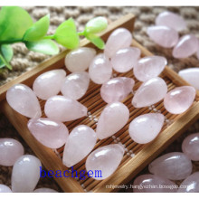Natural Rose Quartz Loose Drop Gemstone