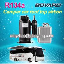 Compresseur de climatiseur 12v dc pour voitures hybrides avec compresseur de courant électrique de véhicule r134a