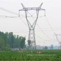 220kV Torre de transmisión de potencia de acero de ángulo de cabeza de gato