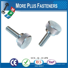 Taiwán tornillos de cabeza avellanada de acero inoxidable m6 tornillo de pulgar inoxidable tornillo de pulgar moleteado m4