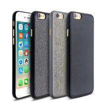 Le boîtier ultra mince ultra-fin en PP de qualité supérieure au monde, en cuir PU gravé ou en toile pour iPhone 6s et iPhone 7