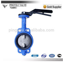 standard center line water pipe cast iron rubber seal wafer butterfly valve