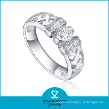 High Quaility Handmade 925 Sterling Silver Ring with CZ (R-0418)