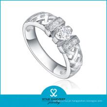 Alta qualidade artesanal 925 anel de prata esterlina com CZ (R-0418)