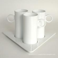 Ensemble de tasse de café en porcelaine, style # 672