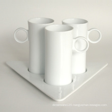 Porcelain Coffee Cup Set, Style# 672