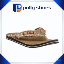 Frauen Top-Logo dunkelbraun Mode Flip Flop Sandale Schuhe