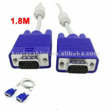 LCD Monitor 15 Pin VGA Male to VGA Male Cable Blue Connector 1.8M