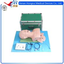 Maniquí eléctrico de la intubación de la tráquea