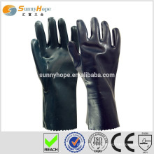 Sunnyhope black safety cotton gloves with pvc