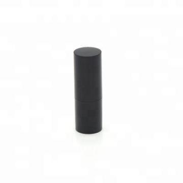 atacado preto 15g vazio design personalizado lip balm plastic container