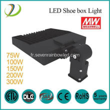 75W LED Shoe Box Light avec Meanwell Driver