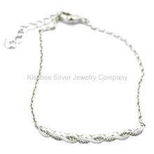 Silber Schmuck, Messing Schmuck Set, Armband Halskette (KT3033W)