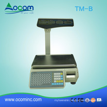 TM-B Electronic Price Computing Scale 30KG Label Printing Weighting Scale