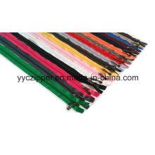 3 # Open End color nilón cremallera larga para prendas de vestir para niños