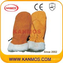 Best Cowhide Leather Mitten Winter Industrial Safety Work Gloves (12309)