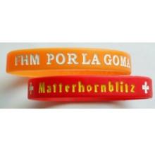 Bracelet en silicone gaufré d'élastomère pour la promotion