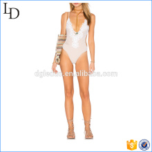 Deep V neck sexy one piece bikini swimwear bathing suit for ladies