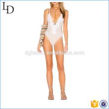 Глубокий V шеи сексуальный один кусок купальники бикини купальный костюм для дамы