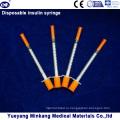 Одноразовые 1cc Инсулиновые шприцы на 0,5 мл Инсулиновые шприцы 0.3 куб. Инсулиновые шприцы (ЭНК-М-044)