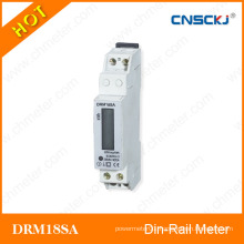 DIN Rail Meter with Single Phase Two Wires for Home Building DRM18SA