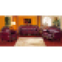 Деревянный кожаный диван для гостиной мебели (929R)