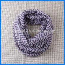 Polyester zig zag chevron infinity scarf