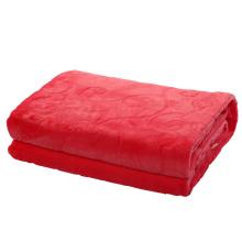 Cobertor de flanela conservado em estoque de cor vermelha 200 * 230