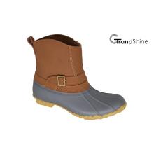 Женские туфли с низким зимним снегом с пряжкой