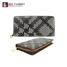 Monedero de la mano del cuero de la PU de la cartera de HEC Wholesale Fashion Wallet para las mujeres