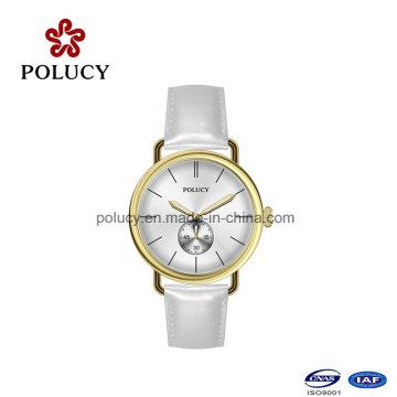 Schlichtes Design Watch Leder Band klassische Uhr