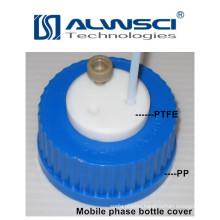 blue screw cap with PP / PEEK connector GL45