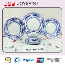 Flower Round Shaped Dinner Set with Ceramic