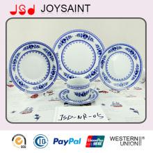 Цветок круглой формы Набор посуды с керамическим