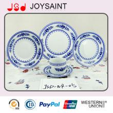 Juego de cena de flores redondas en forma de cerámica