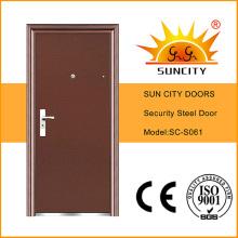 Puerta de seguridad de acero de entrada rasante