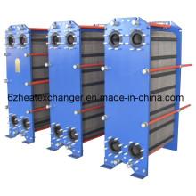 Intercambiador de calor sanitario de alta eficiencia para productos lácteos (igual a M15B / M15M)