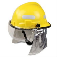 Fire fighting helmet with flame retardant and impact resistance