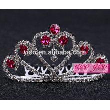 hawaiian flower pink rhinestone tiara