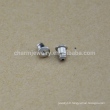 BXG037 Earrings Findings Ear Safety Backs Original Color 304 Surgical Stainless Steel Ear nuts