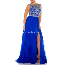 Vente en gros Beading Applique Chiffon Prom Party Robes