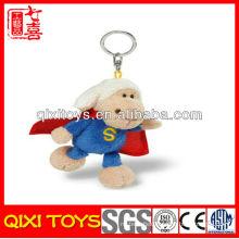 Popular design top quality plush superman keychain