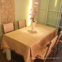 Cubiertas de mesa de frontera de borla de tela Jacquard St110