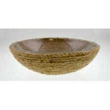 Glass Bowl with Hemp Rope Pad