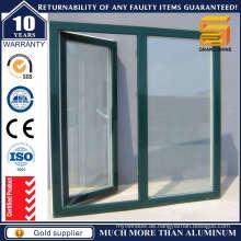 Hochwertiges hölzernes Korn-Aluminium-Flügelfenster