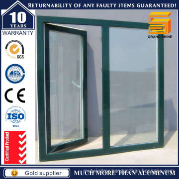 High Quality Wooden Grain Aluminum Casement Window