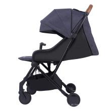 Andadores de carrinhos de bebê leves com alça de transporte e moldura prateada para transporte