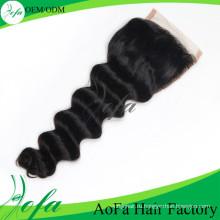 Высокое качество 7А Виргинский Бразильский человеческих волос кружева закрытия