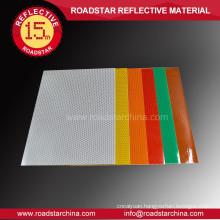 High visibility alveolate traffic reflective vinyl